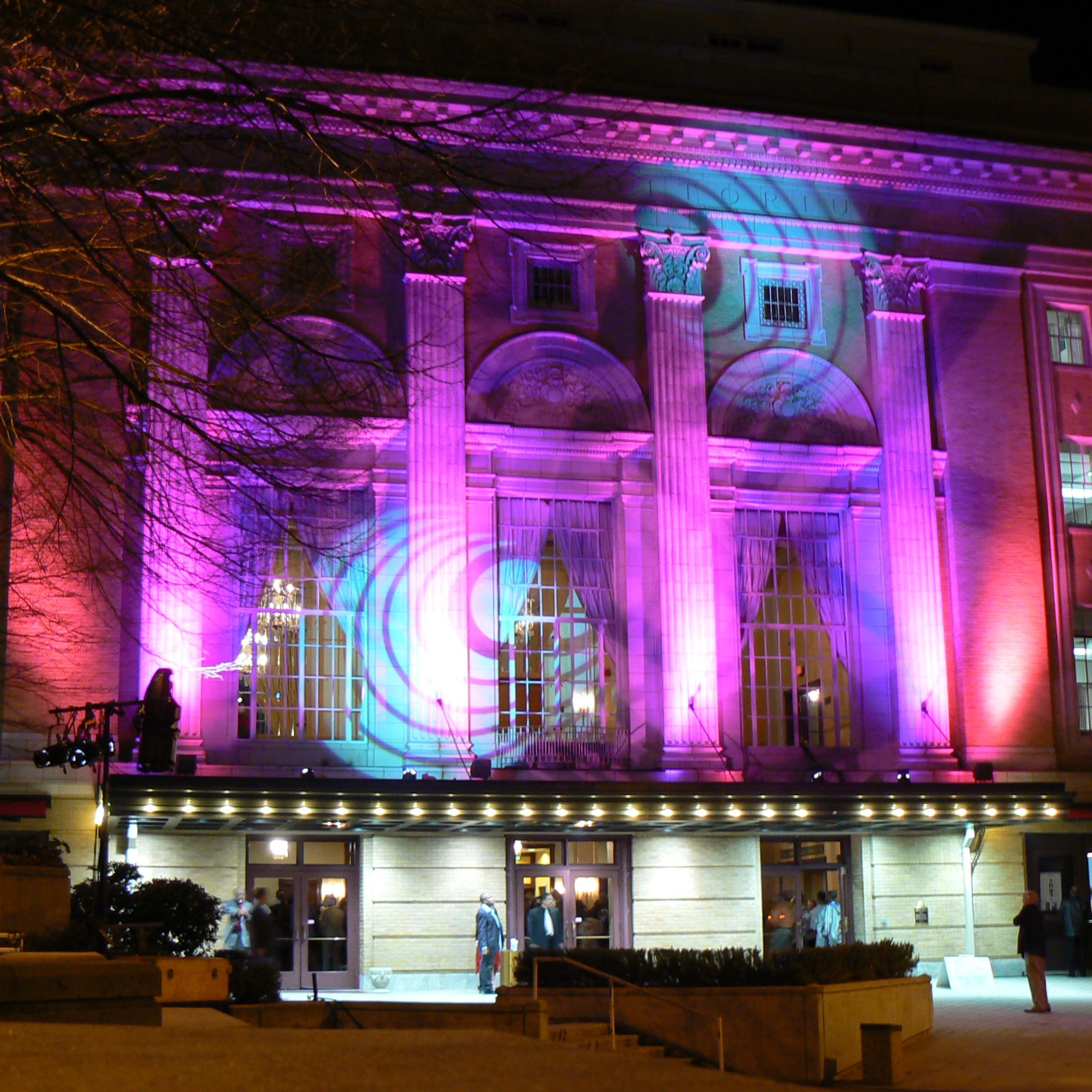 Exterior of a Theater on Event Night