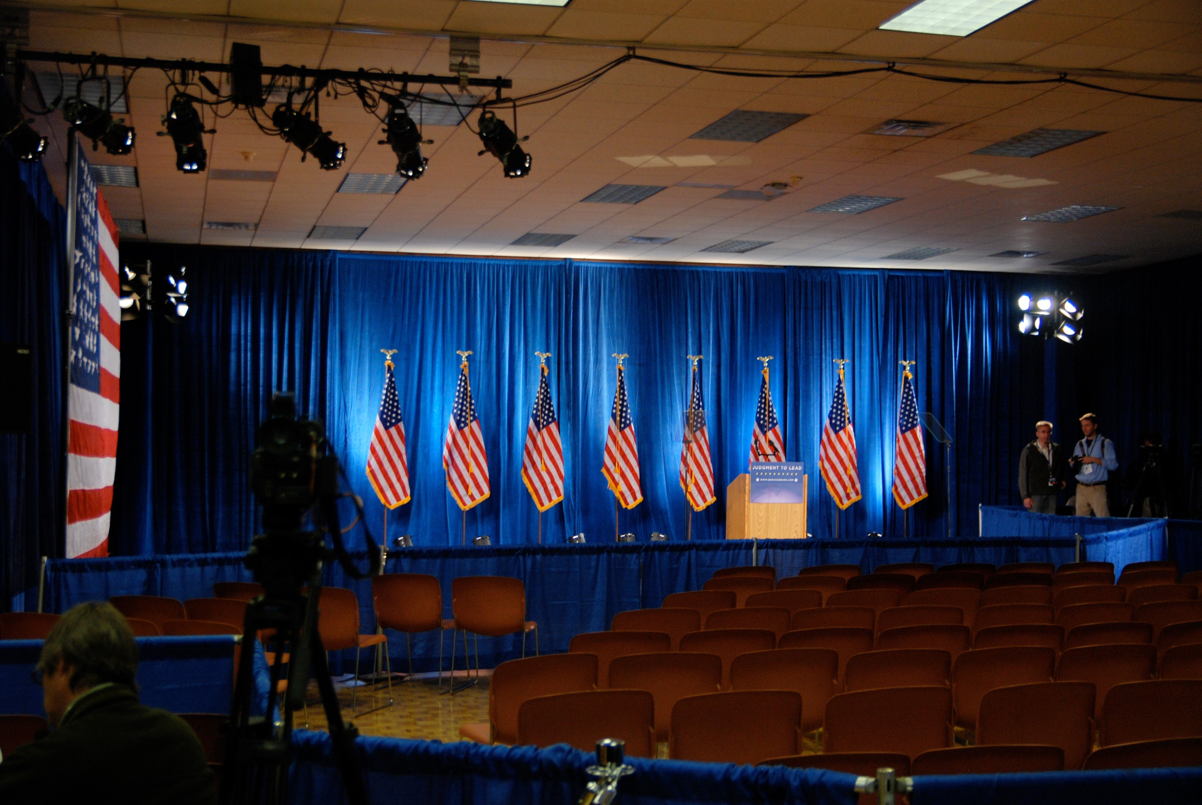 Small Political Stage Atlas Stageworks Lighting