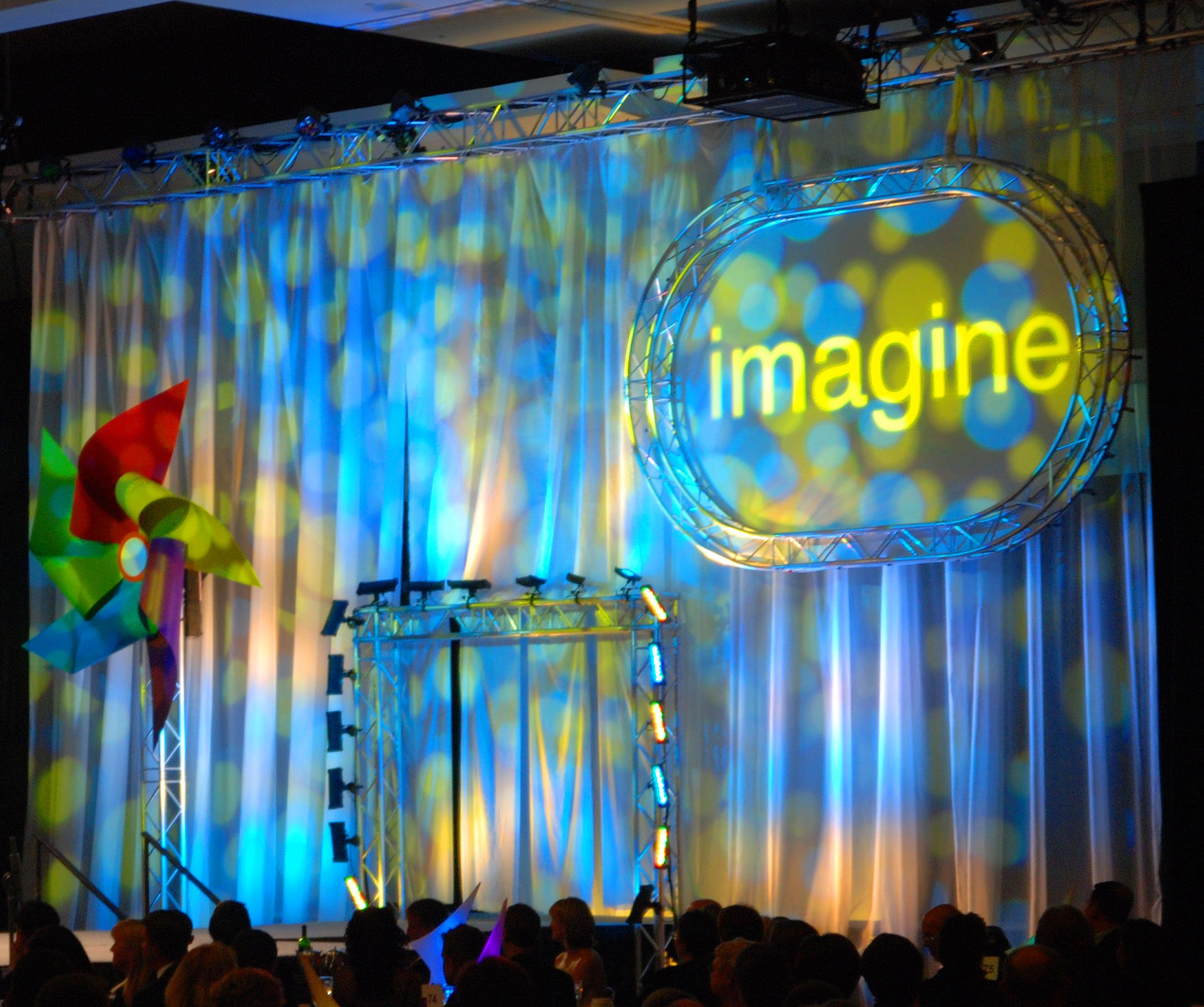 Convention Center Staged for Corporate Banquet and Concert